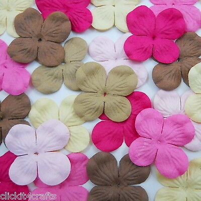 100 Paper Flowers Scrapbook Cardmaking Home Decor Party Art Craft Supply ZP9-619