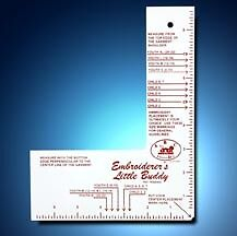 The Embroiderer's Buddy Machine Embroidery Aid Ruler - Great Notions YOUTH CHILD