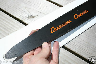 """NEW .050 Gauge Cannon """"Quarter"""" Tip """"Carving bar"""" 16 inch chainsaw bar"""