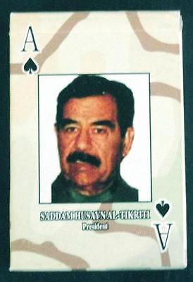 US ARMY IRAQ WAR playing cards (non-original copy), SADDAM HUSSEIN,  NEW!  mm349