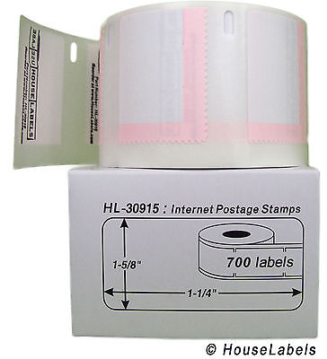 25 Rolls of 700 Internet Postage Labels for DYMO® LabelWriters® 30915 BPA Free