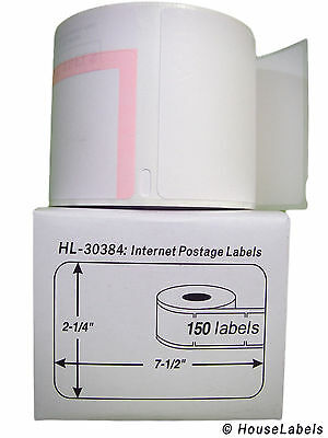 25 Rolls of 150 2-Part Internet Postage Labels for DYMO® LabelWriters® 30384