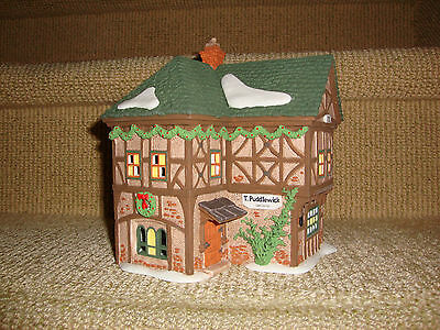 """Dept. 56 Dickens Village """"T. PUDDLEWICK SPECTACLE SHOP"""" - MIB  #58334"""