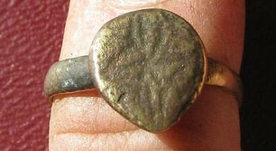 Authentic Metal Detector Find VIKING CHRISTIAN RING 6 1/2 US >17mm   7842 DR