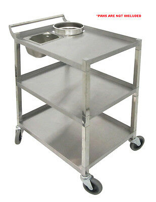 Stainless Steel Bus Cart 250Lbs Cap. Knock-down ETL listed C-31K2 All Purpose