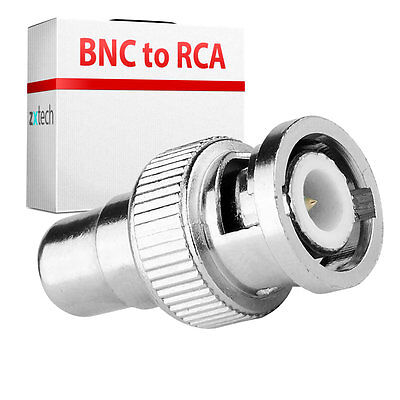 10 Pack BNC MALE TO RCA PHONO FEMALE CONNECTOR ADAPTOR CCTV
