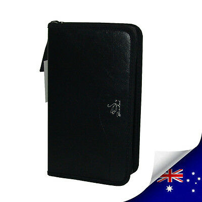 1 x STYLE LEATHER 96PCS CD & DVD WALLET CASE HOLDS - NEW