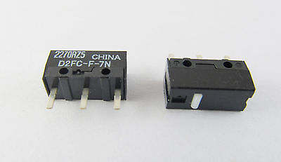 2pcs OMRON Micro Switch Microswitch for Mouse 0.74N D2FC-F-7N