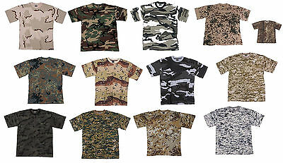 US Army T Shirt Woodland Flecktarn Skyblue Tropentarn Urban Dessert Digital u.a.