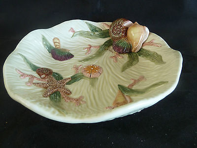 Fitz & Floyd Sea Shell Dish Platter Various Shell Fish in Relief