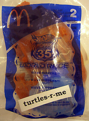 RARE McDonald's MIP Hot Wheels WAVE RIPPERS Diecast WORLD RACE Highway 35 #2