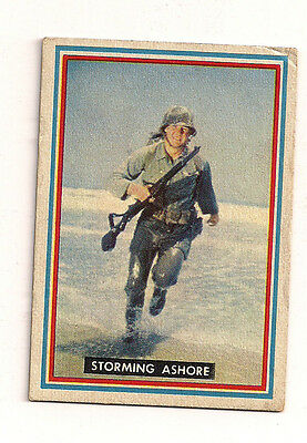 1953 Topps R709-1 Fighting Marines Trading Card Training #10 Storming Ashore
