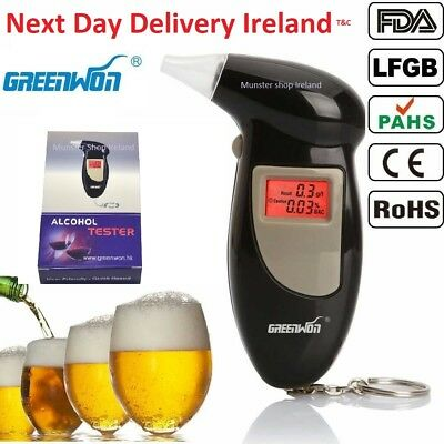 Genuine Digital LCD Alcohol Breath Tester Analyzer Breathalyzer Detector New