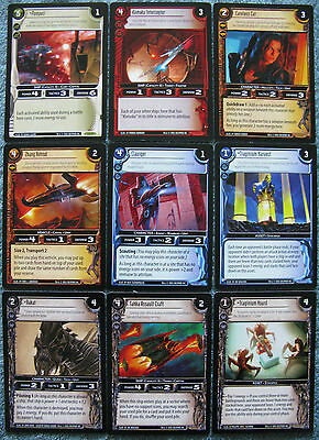 WARS TCG Nowhere to Hide Complete Uncommon Set (55 Cards)