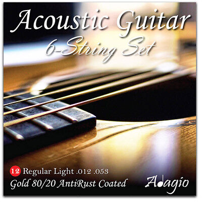Adagio AntiRust Acoustic Guitar Strings Gauge 12-52