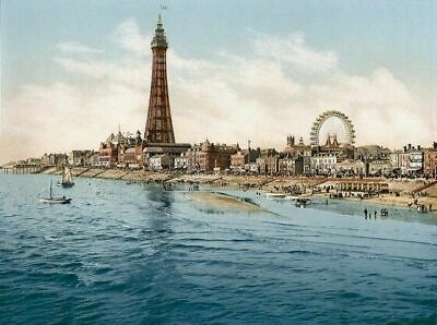 Blackpool From Central Pier ENG Photochrome EPC1318 Art Print A4 A3 A2 A1