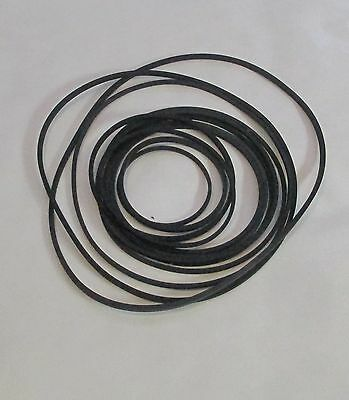 A Set of 12 Rubber Drive Belts / Bands for Cassette Decks & Other Audio 28-80
