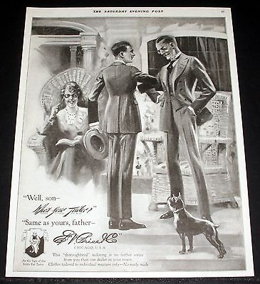 1919 Old Magazine Print Ad, E.v. Price Tailors, Fine Men's Clothes, Fashion Art!