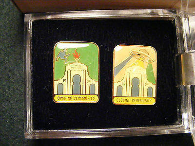1984 Los Angeles Olympic Summer Games Opening and Closing Ceremonies Pin Set