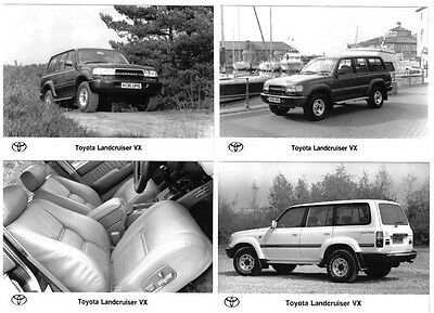 Toyota Land Cruiser VX 1989-93 Set of 4 Original black & white Press Photographs