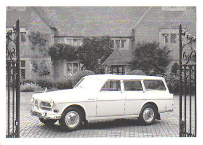 Volvo 121 Amazon Estate circa 1963 original black & white Press Photograph