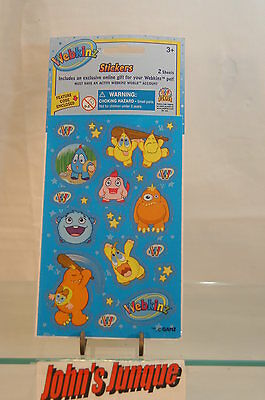 Webkinz Stickers~Blue Sheets~Lot Of Three Packages~New~Sealed~Free Ship To Us~