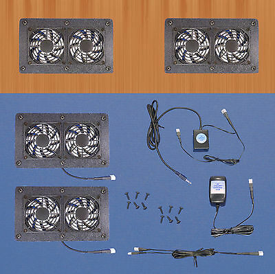 Cabinet Air Control 12-volt trigger-controlled multi-speed AV cooling fans/12v