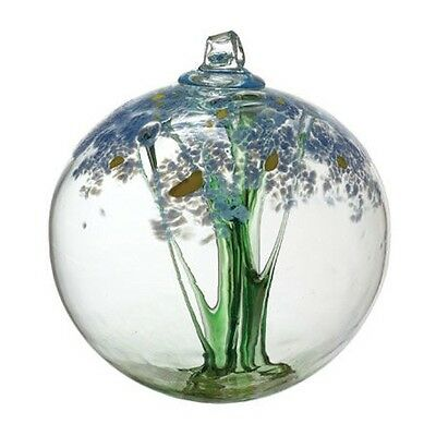 """Kitras - Hand Blown Glass Ornament - BLOSSOM - THINKING OF YOU -2.75"""" Ball - NEW"""