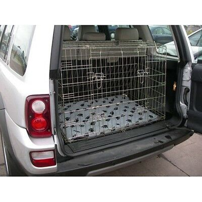 Landrover Freelander 97 - 06 Sloping Car Dog Cage Boot Travel Crate Puppy Guard