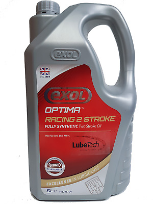 Exol Synthetic Racing 2 Two Stroke Oil 5 Ltr Highest Specification Jaso Fd