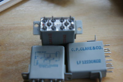 Clare hermetically sealed latching relay LF 12230K02 1.12k ohms dpdt