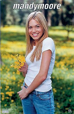 "NEW Mandy Moore Flowers 2000 Poster 22""x34"" Music Rock Pop"