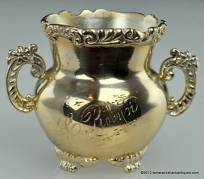 ANTQ Pairpoint Quadruple Silver Plate Toothpick Holder Victorian C. Robyn Footed