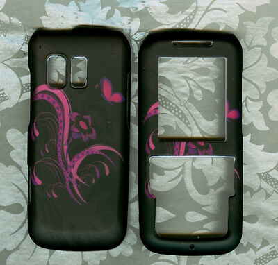 new butterfly rubberized Samsung SCH R451c TracFone net 10 Straight Talk  cover