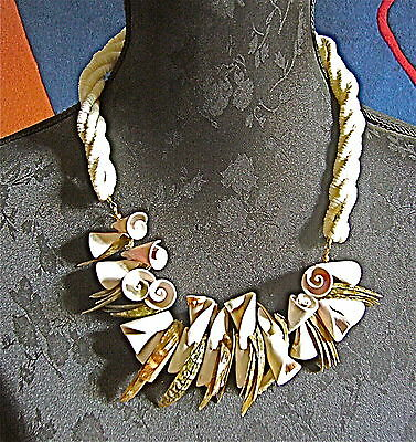 CREATOR OF NECKLACE,  very beautiful, modernist, formed SHELL AND MOTHER VINTAGE