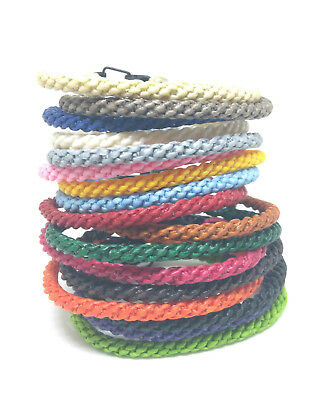 Handcrafted FAIR TRADE Wax COTTON Cord WEAVE Classic Thai WRISTBAND Bracelet