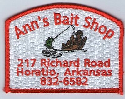Embroidered Patch Fishing Ann's Bait Shop Horatio Arkansas