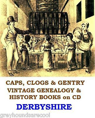 Derbyshire Genealogy History Registers Vintage Books on DVD Family Tree Research