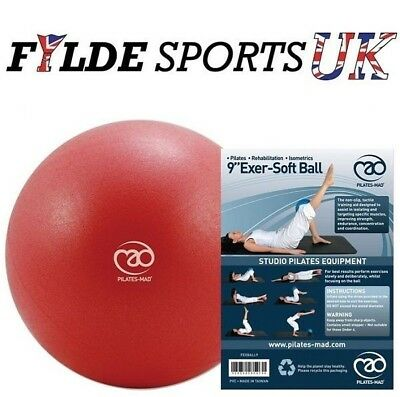 """Fitness Mad 9"""" Exer-Soft RED Exercise Gym Ball - Pelvic & Pilates Workout"""