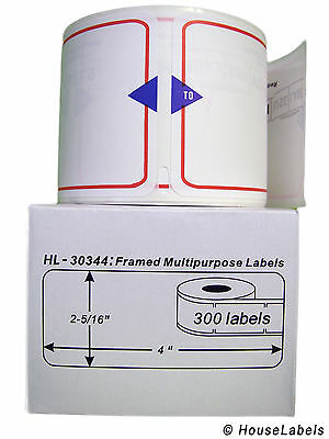 18 Rolls of 300 Framed Multipurpose Labels for DYMO® LabelWriters® 30344