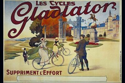 Vintage French Les Cycles Gladiator Poster VCP056 Art Print A4 A3 A2 A1