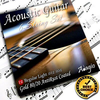 Adagio Premium AntiRust Acoustic Guitar Strings Gauge 12 to 52w