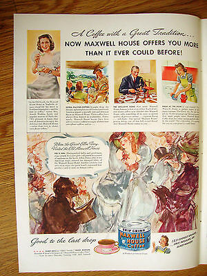 1941 Maxwell House Coffee Ad A Coffee with a Great Tradition