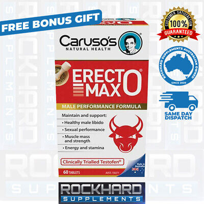 Caruso's Erectomax 60 Tabs Erecto Max Libido Testosterone Support Fenugreek