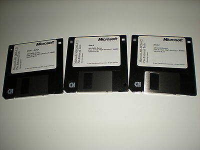 """Microsoft MS-Dos 6.21 on 3.5"""" disks. New. Disks only. Genuine."""