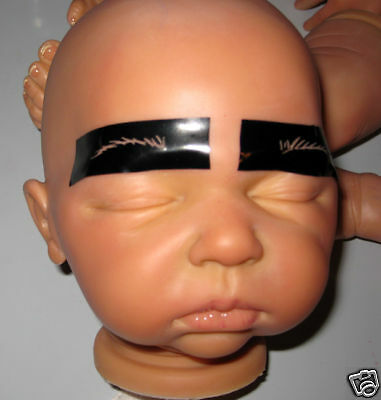 REALISTIC REBORN BABY DOLL EYEBROW STENCILS-12 sets OOAK-Fast delivery,easy2use