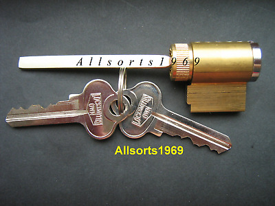 Sliding glass door lock key cylinder solid brass with 2 keys Suits Many Brands