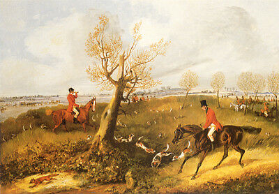 FOXHOUND FOX HUNTING DOG FINE ART PRINT (Small) - # 3 of 4 - Story of a Hunt