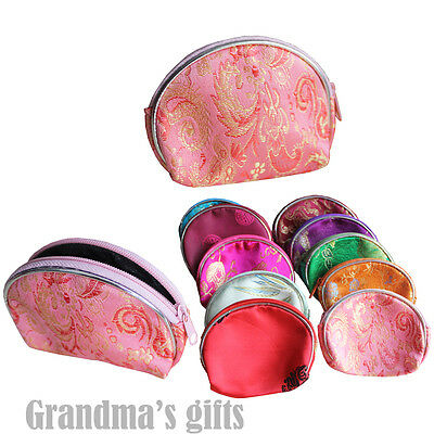 10 Colorful Brocade Pouch Purses Jewelry Coins Gift Bag
