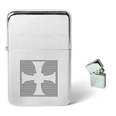 Celtic Cross Engraved Personalised Petrol Lighter Birthday Christmas Present